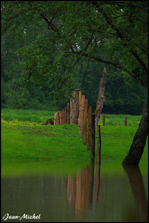 Innondation à Louhans