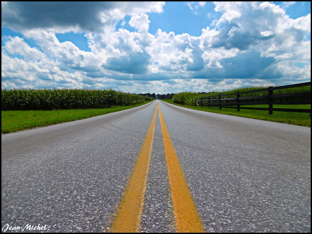 Route de Pennsylvanie. USA